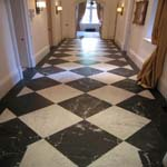 Traditional Checkerboard Marble Floor