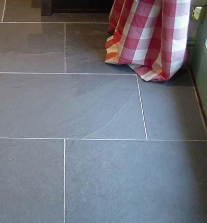 Green slate floor tiles