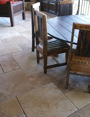 Brushed Distressed Edge Travertine